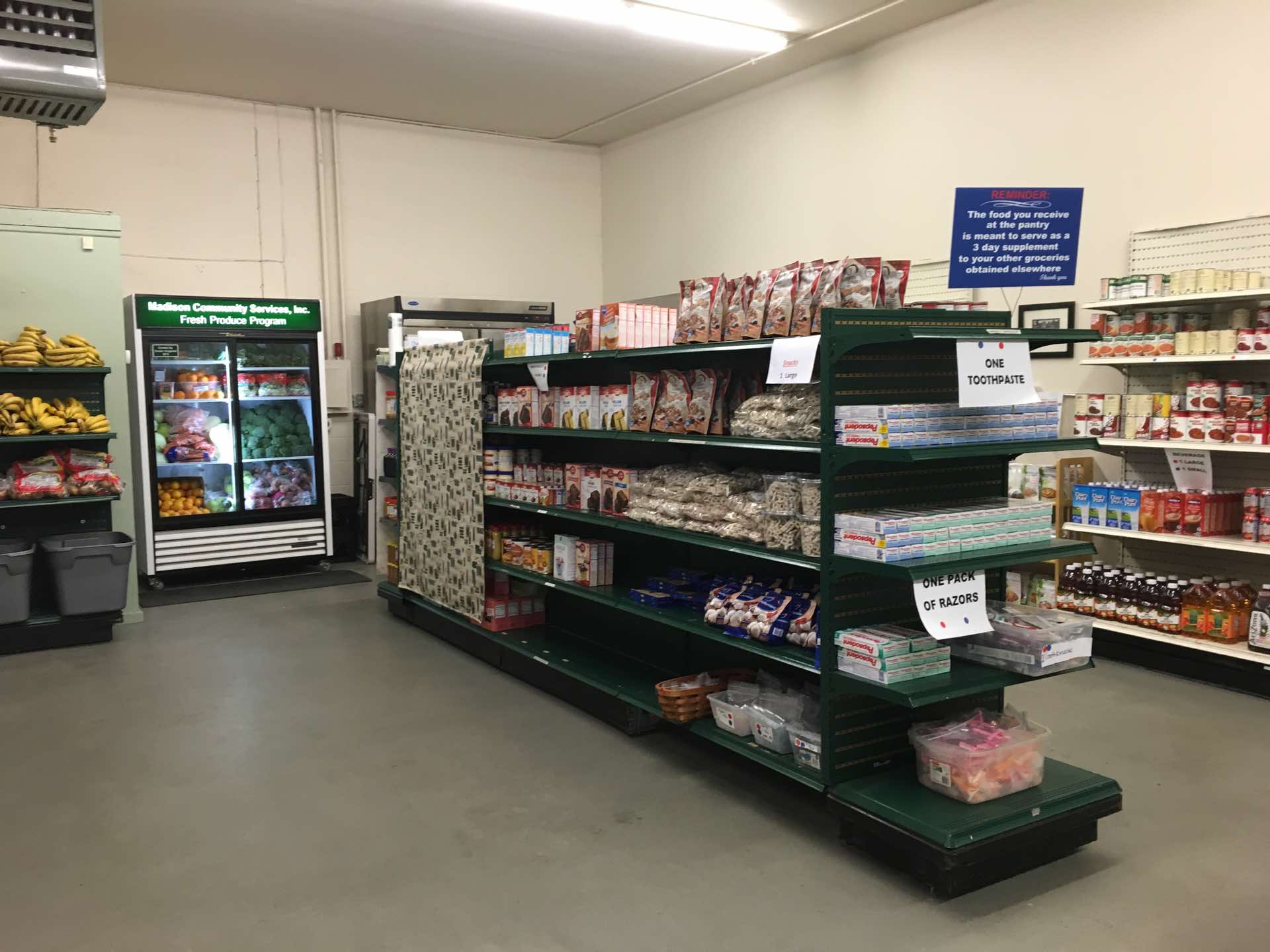 The Madison Community Food Pantry in 2016